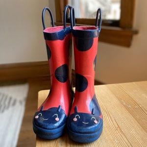 [carters] ladybug rainboots size 9
